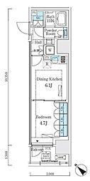 リビオメゾン大崎 13階1DKの間取り