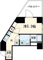 都営浅草線 戸越駅 徒歩3分の賃貸マンション 4階1Kの間取り