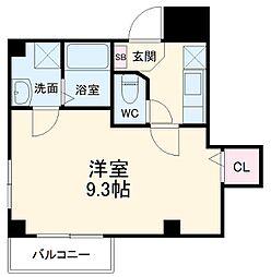 シンシア八番館 4階1Kの間取り