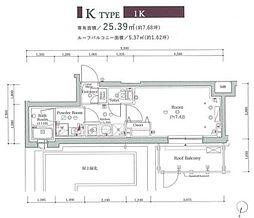 JR山手線 大崎駅 徒歩8分の賃貸マンション 3階1Kの間取り