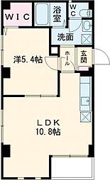 プレフェール 2階1LDKの間取り