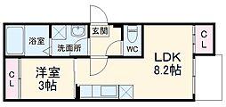 Sophia蘇我 3階1LDKの間取り