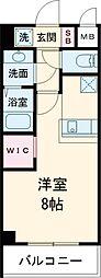 都電荒川線 飛鳥山駅 徒歩3分の賃貸マンション 3階1Kの間取り