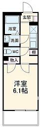 東武伊勢崎線 春日部駅 徒歩8分の賃貸マンション 2階1Kの間取り