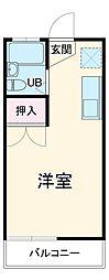 京成本線 公津の杜駅 徒歩26分の賃貸アパート 1階ワンルームの間取り