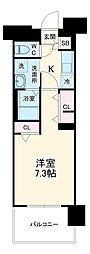 名古屋市営東山線 上社駅 徒歩3分の賃貸マンション 6階1Kの間取り