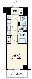 N-stage Fujisawa 4階1Kの間取り