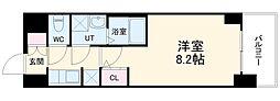 S-RESIDENCE熱田 8階1Kの間取り