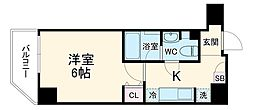 Log桜木町classic 4階1Kの間取り