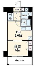 ベラジオ京都西院ウエストシティIII 6階1DKの間取り