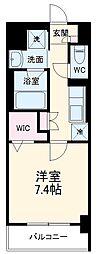 名古屋市営東山線 今池駅 徒歩9分の賃貸マンション 5階1Kの間取り