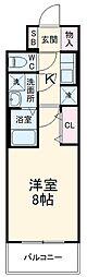 近鉄名古屋線 近鉄四日市駅 徒歩10分の賃貸マンション 4階1Kの間取り