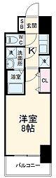 近鉄名古屋線 近鉄四日市駅 徒歩10分の賃貸マンション 5階1Kの間取り