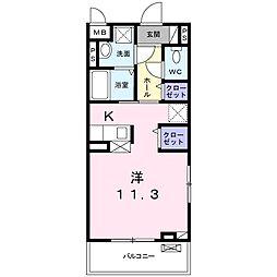 静岡鉄道静岡清水線 新静岡駅 徒歩12分の賃貸アパート 3階1Kの間取り