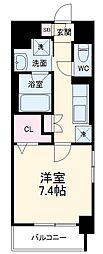 名古屋市営東山線 今池駅 徒歩9分の賃貸マンション 3階1Kの間取り