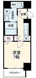 名古屋市営東山線 今池駅 徒歩9分の賃貸マンション 1階1Kの間取り