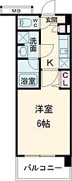 ガーラ・シティ品川西大井 2階1Kの間取り