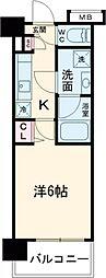 ガーラ・シティ品川西大井 3階1Kの間取り