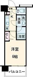 ガーラ・シティ品川西大井 4階1Kの間取り