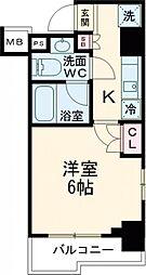 プルミエ武蔵小山 6階1Kの間取り