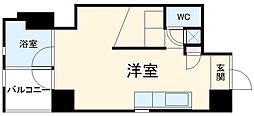 名鉄豊田線 浄水駅 徒歩5分の賃貸マンション 3階ワンルームの間取り