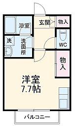 SKビル六番館 4階ワンルームの間取り