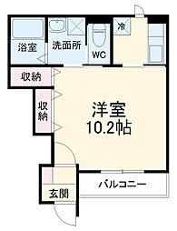 Casa Limone 1階1Kの間取り
