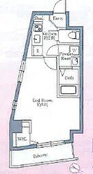 ルミナス西日暮里 3階1Kの間取り