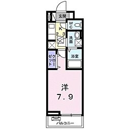 小田急小田原線 足柄駅 徒歩14分の賃貸アパート 1階1Kの間取り