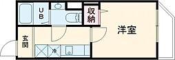DEAR ECLASS TORITSUDAI 3階1Kの間取り