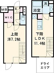 notice目黒本町 1階1LDKの間取り