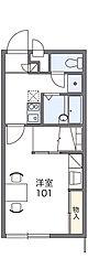 JR両毛線 駒形駅 徒歩21分の賃貸アパート 2階1Kの間取り