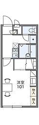 JR両毛線 新前橋駅 徒歩25分の賃貸アパート 2階1Kの間取り
