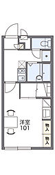 JR両毛線 新前橋駅 徒歩18分の賃貸アパート 2階1Kの間取り