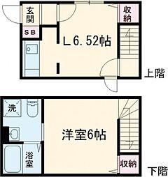 京王線 八幡山駅 徒歩6分の賃貸マンション 1階1LDKの間取り