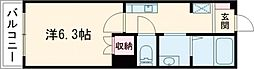 Housekul KT2 2階1Kの間取り