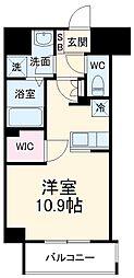 前島1丁目116マンション(仮称) 2階ワンルームの間取り