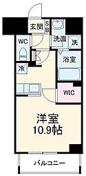 前島1丁目116マンション(仮称) 4階ワンルームの間取り