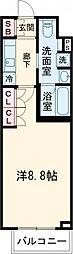 京王線 上北沢駅 徒歩8分の賃貸マンション 1階1Kの間取り