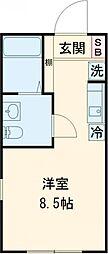 レオリオ 1階ワンルームの間取り