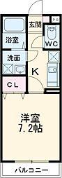 JR東海道新幹線 三島駅 バス3分 幸原下車 徒歩17分の賃貸マンション 1階1Kの間取り