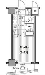 グランド・ガーラ五反田 11階1Kの間取り
