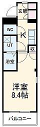 名鉄常滑線 新日鉄前駅 徒歩14分の賃貸アパート 2階1Kの間取り