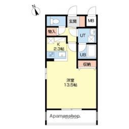 札幌市営東西線 菊水駅 徒歩12分の賃貸マンション 4階1Kの間取り