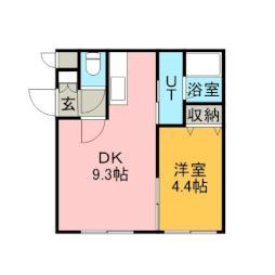 ヌーン澄川 4階1DKの間取り
