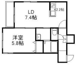 Cozy Place 栄通 3階1LDKの間取り