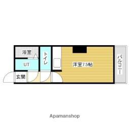 JR函館本線 岩見沢駅 徒歩12分の賃貸マンション 3階ワンルームの間取り