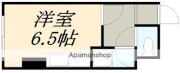 コーポHERO八幡 2階ワンルームの間取り