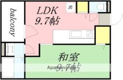 JR函館本線 南小樽駅 徒歩11分の賃貸マンション 2階1LDKの間取り