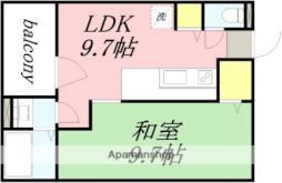 JR函館本線 南小樽駅 徒歩11分の賃貸マンション 1階1LDKの間取り